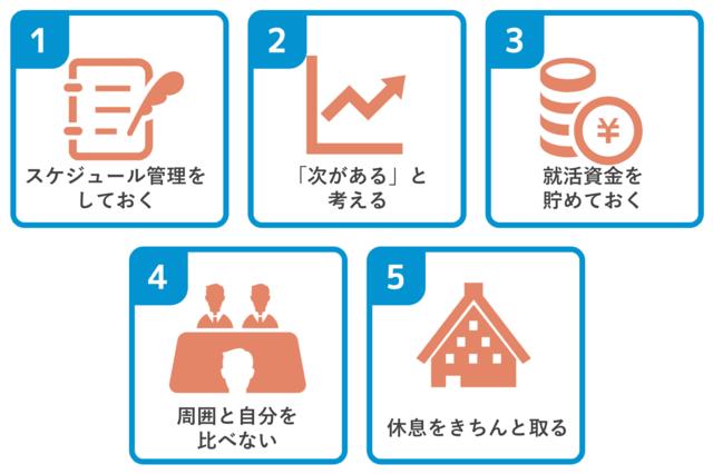 就活を乗り切るための5つの心得