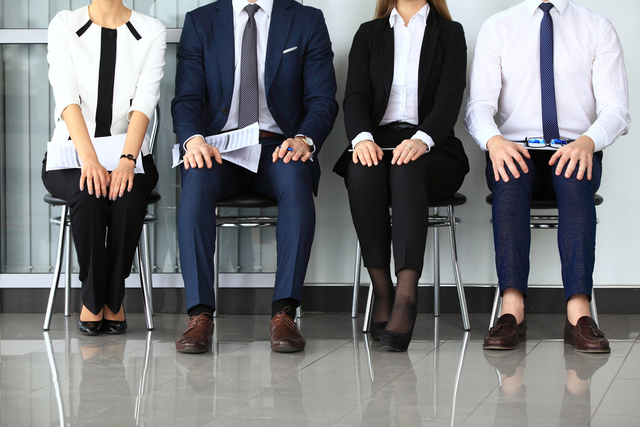 Stock photo business people waiting for job interview 289649159 1