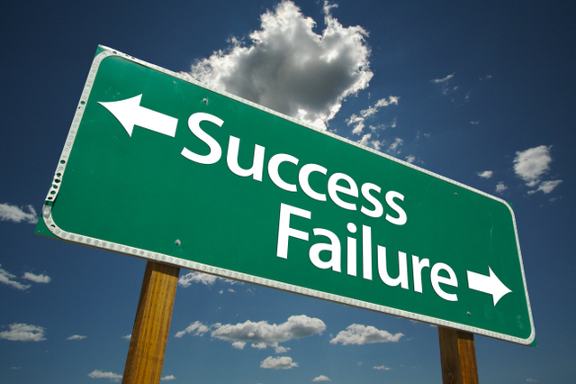 Success failure sign
