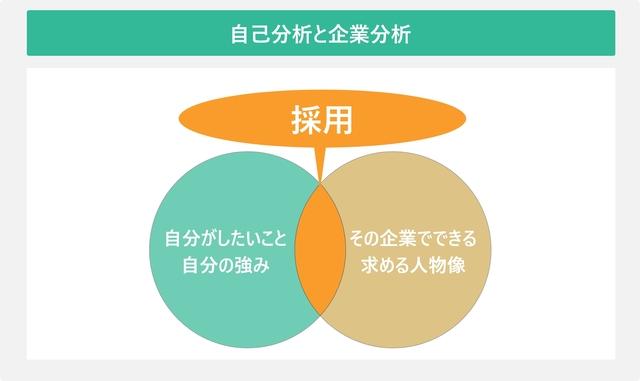 自己分析と企業分析を表した図